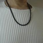 天然石ネックレスのオニキスネックレス
