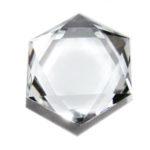 水晶六芒星カットの石をペンダントトップに決定