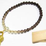 茶水晶グラデーション7mm数珠を掲載しました。