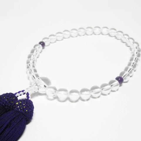 女性用 水晶数珠8mmを掲載しました
