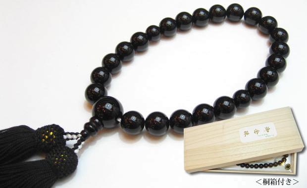 数珠 男性用ブラックオニキス12mm数珠