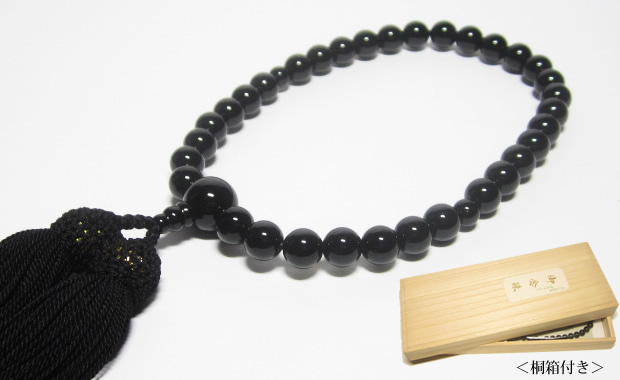 数珠ブラックオニキス8mm 男性用