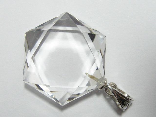 水晶六芒星ペンダントトップ