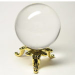 最高級 天然 水晶 丸玉1.0寸 台座付