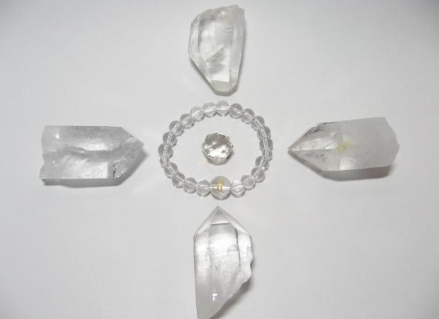 浄化用水晶六角柱ポイント原石