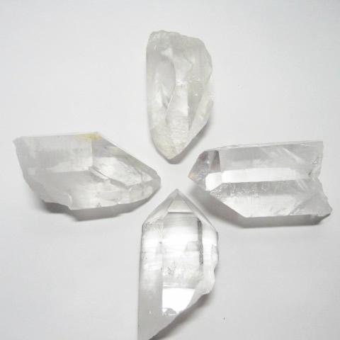 水晶浄化用六角柱ポイント4個セット