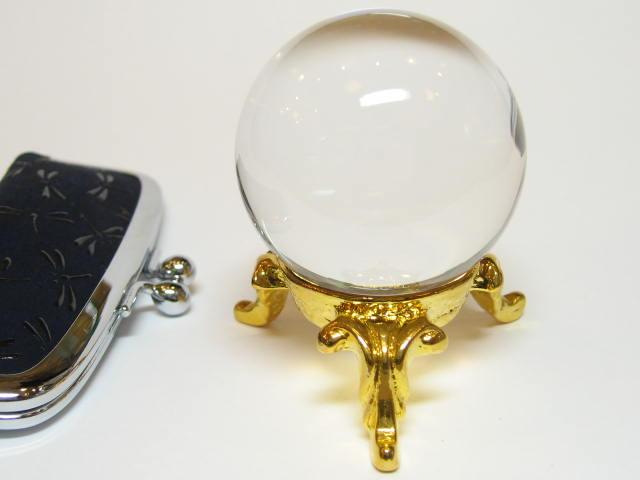 最高級 天然 水晶 丸玉1.3寸