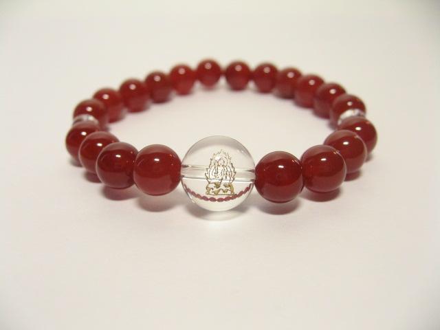 干支守護神・守り本尊 赤メノウ数珠ブレスレット