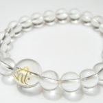 守護梵字「阿弥陀如来 キリーク」最高級天然 水晶8mm数珠ブレスレット