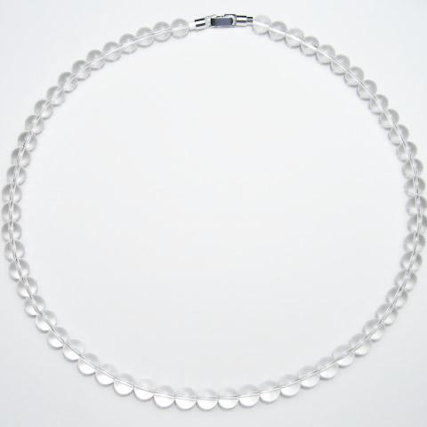 最高級 天然 水晶 8mm ネックレス 50cm 最高級 天然 水晶 8mm ネックレス 50cm