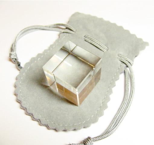 水晶カット六面体